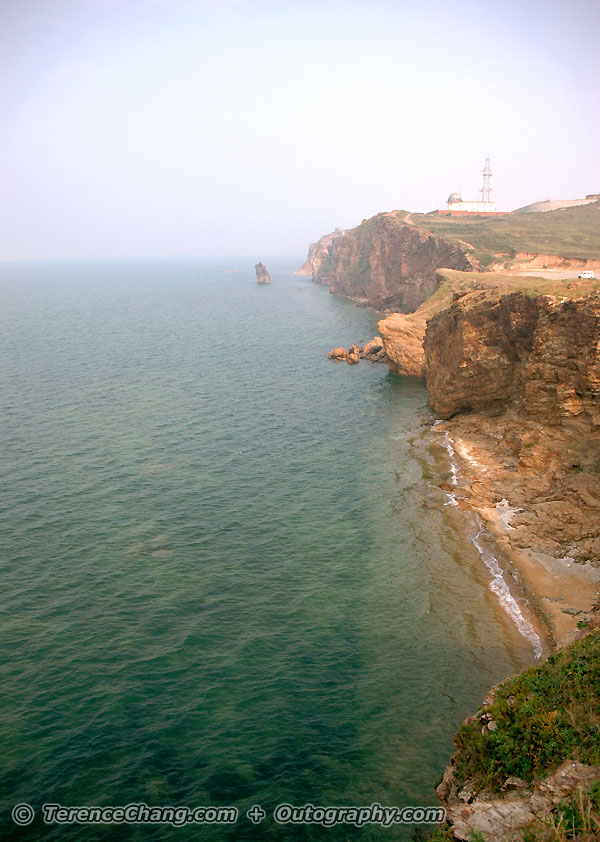 Smoky Yan Tai and Yellow Sea Shore in China