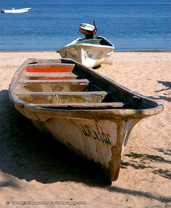 Little Boats on the Beach at Acapulco Mexico