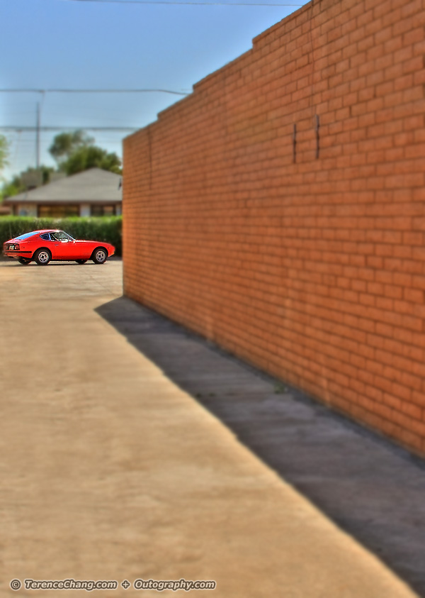 Mini Red Datsun 240Z