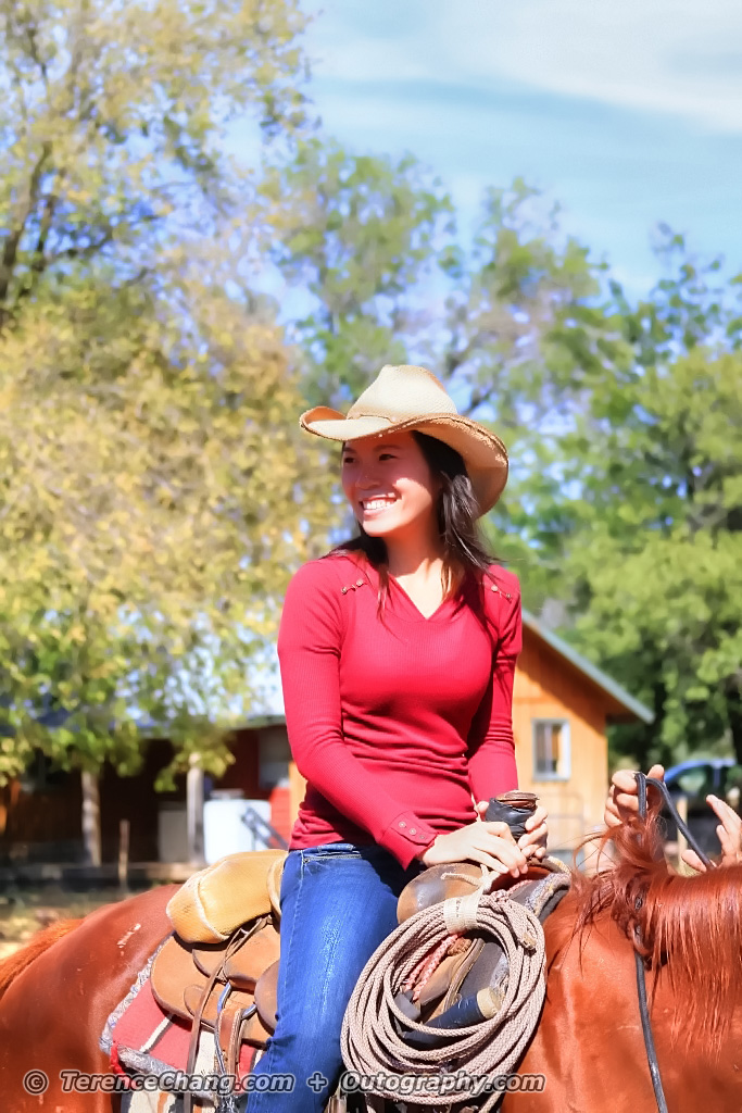Cowgirl On The Move