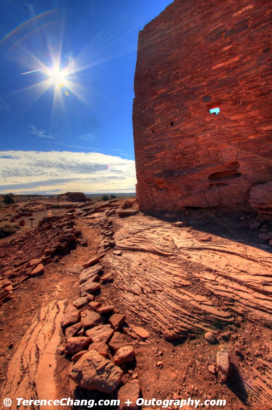 HDR Lomaki Pueblo In Wupatki National Monument