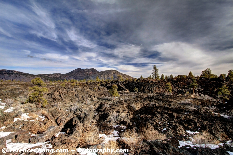 HDR Sunset Crater Volcano