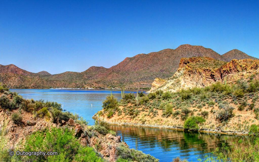 Saquaro Lake Hike HDR