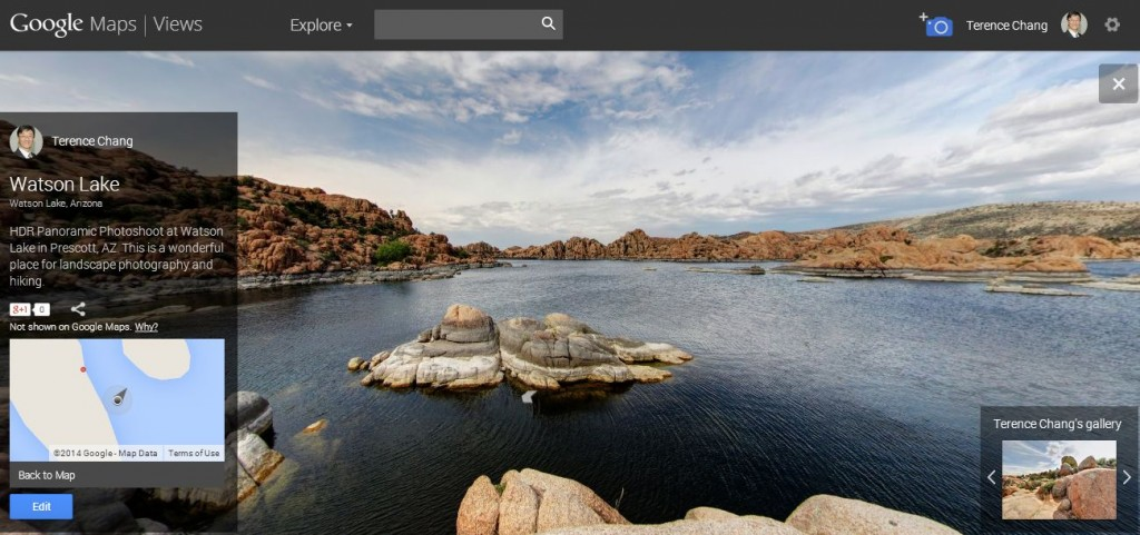 HDR Panorama At Watson Lake Prescott AZ